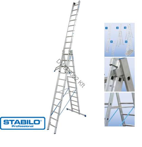 Krause 123350 Stabilo 3X12 fokos sokcélú létra lépcsőfunkcióval