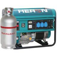 Benzin-gáz motoros áramfejlesztő, max 5500/4800 VA, egyfázisú (EGM-55/48 AVR-1G)