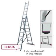 KRAUSE 033406 CORDA 3x10 fokos sokcélú létra lépcsőfunkcióval /16kg, 2,8m/