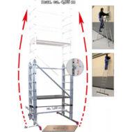 Krause 916273 Corda csuklós szerelőállvány munk.mag: 4,85 m /48,5kg;2,15m/