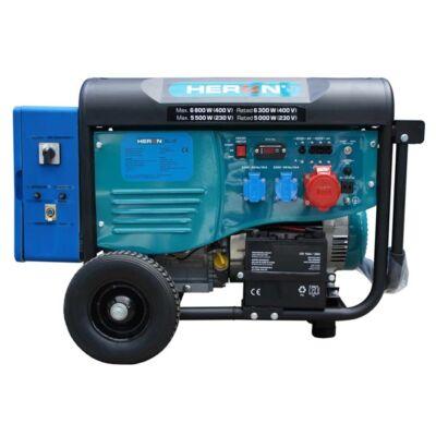 Heron 420 BLUE, 3 fázisú, 6 kVA-es, távindítóval felszerelt áramfejlesztő