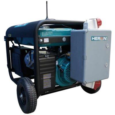 HERON 421 GREY +; 3 fázisú hálózatba köthető 1 fázisú; 6,8 kVA-es vészhelyzeti áramfejlesztő, kommunikációs egységgel