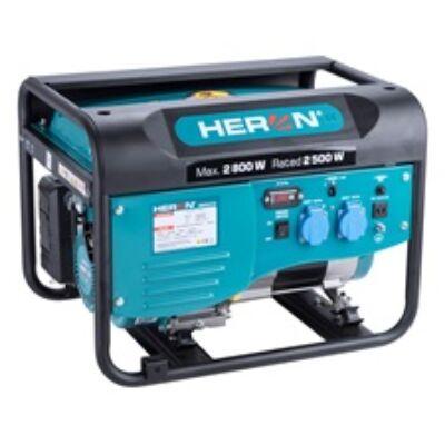 Heron benzinmotoros áramfejlesztő, max 2600 VA, egyfázisú