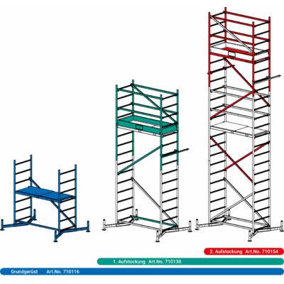 Krause 710116 + 710130 + 710154 Monto ClimTec alumínium munkaállvány 7m-es munkaállvány /84kg;2,21m/