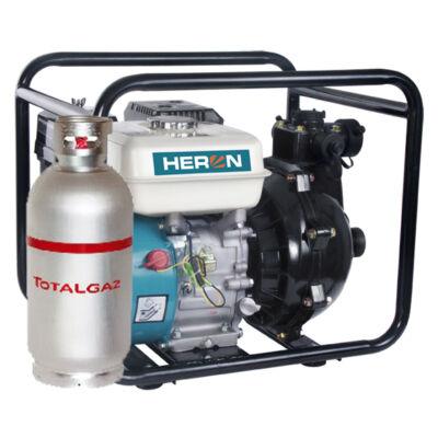 """Benzin-gázmotoros nyomószivattyú 6,5 LE (EPPH 15-10G), 1,5""""bemenet, 1×1,5"""" és 2×1""""kimenet"""