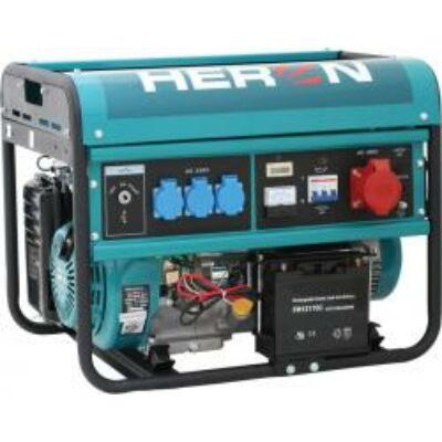Benzinmotoros áramfejlesztő, max 6000 VA, háromfázisú, elektromos öninditóval (EGM-60 AVR-3E)
