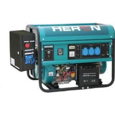 Benzinmotoros áramfejlesztő + HAV1 indító automatika, max 5500 VA, egyfázisú, elektromos önindítóval (EGM-55 AVR-1E)