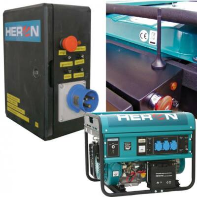 benzinmotoros áramfejlesztő + HAV1 inditó aut. + GSM, max 5500 VA, egyfázisú, elektromos önindítóval (EGM-55 AVR-1E)