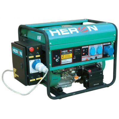benzinmotoros áramfejlesztő + HAE-1 indító automatika, max 6500 VA, egyfázisú (EGM-68 AVR-1E), önindítós