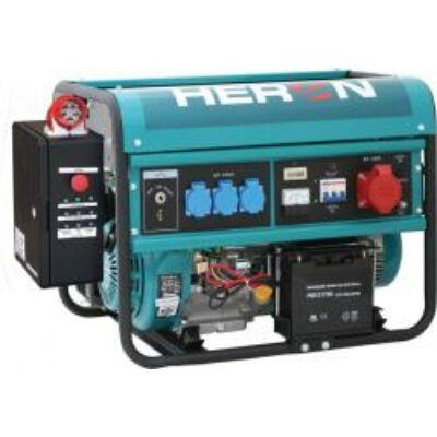 Benzinmotoros áramfejlesztő + HAE-3/1 inditóautomatika, max 6500 VA, egyfázisú (EGM-68 AVR-1E), önindítós