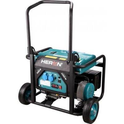 Benzinmotoros áramfejlesztő, 1 fázisú, max. teljesítmény 3 kVA