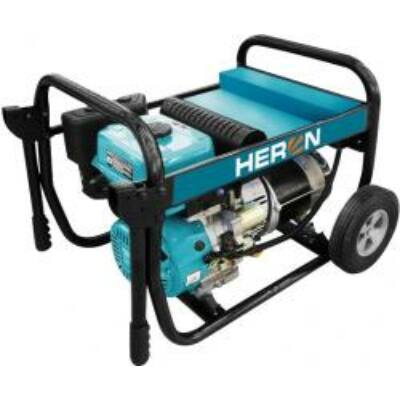Heron benzinmotoros áramfejlesztő, 6800 VA, 230V hordozható (EGI 68)