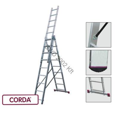 Krause 030399 Corda 3X9 fokos sokcélú létra /13,5kg;2,55m/