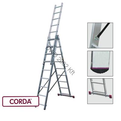 Krause 033390 Corda 3X9 fokos sokcélú létra lépcsőfunkcióval/13,5kg;2,55m/