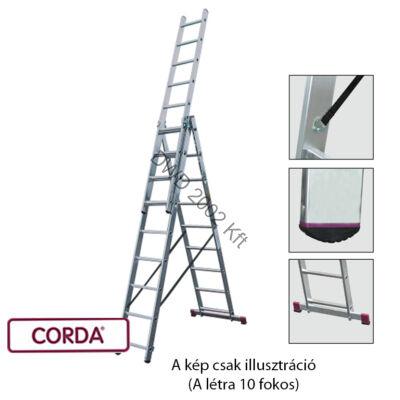 KRAUSE 033406 CORDA 3x10 fokos sokcélú létra lépcsőfunkcióval