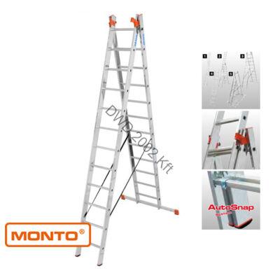 Krause 129789 Monto Tribilo 3X12 fokos sokcélú létra lépcsőfunkcióval /27,5kg;3,55m/