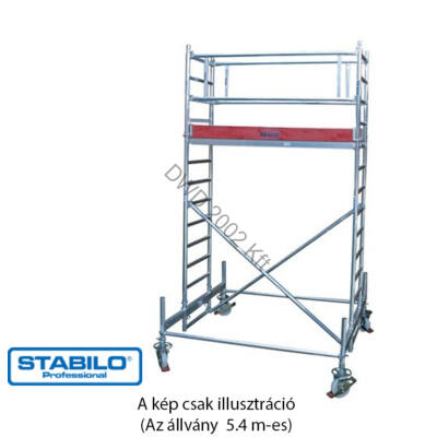 Krause 741066 Stabilo 100-as sorozat 5,40m-es gurulóállvány (2,50mx0,75m mezőhossz)  /141kg/