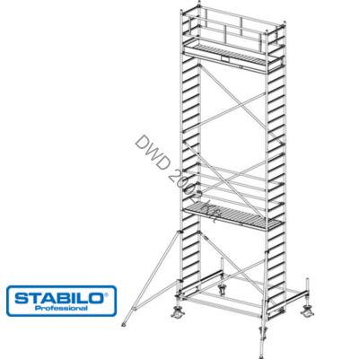 Krause 741097 Stabilo 100-as sorozat 8,40m-es gurulóállvány (2,50mx0,75m mezőhossz)  /214kg/