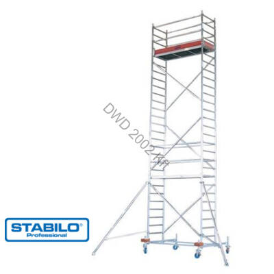 Krause 741356 Stabilo 10-es sorozat 8,40m-es gurulóállvány (2,50mx0,75m mezőhossz)  /193kg/