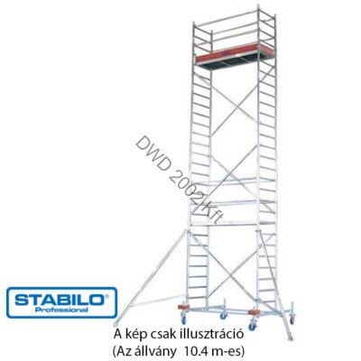 Krause 741370 Stabilo 10-es sorozat 10,40m-es gurulóállvány (2,50mx0,75m mezőhossz)  /230kg/