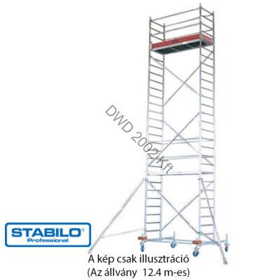 Krause 741394 Stabilo 10-es sorozat 12,40m-es gurulóállvány (2,50mx0,75m mezőhossz)  /276kg/