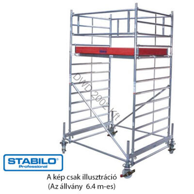 Krause 745071 Stabilo 500-as sorozat 6,40m-es gurulóállvány (2,50mx1,50m mezőhossz)  /195kg/