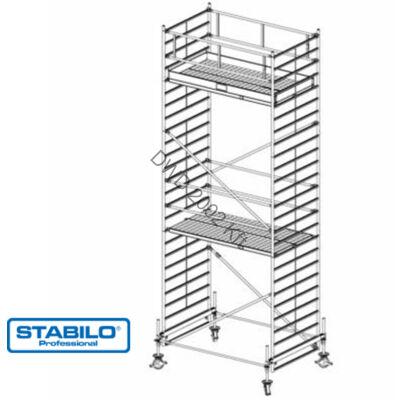 Krause 735089 Stabilo 500-as sorozat 7,40m-es gurulóállvány (2mx1,50m mezőhossz)  /224kg/