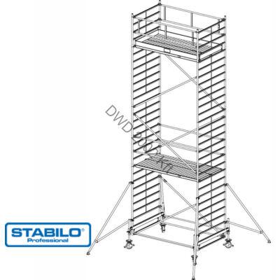 Krause 735096 Stabilo 500-as sorozat 8,40m-es gurulóállvány (2mx1,50m mezőhossz)  /275kg/