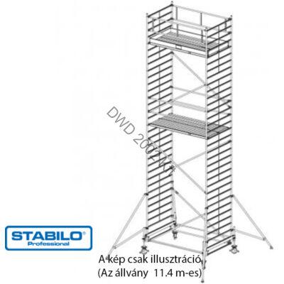 Krause 735126 Stabilo 500-as sorozat 11,40m-es gurulóállvány (2mx1,50m mezőhossz)  /348kg/