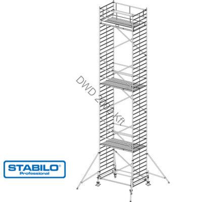 Krause 745132 Stabilo 500-as sorozat 12,40m-es gurulóállvány (2,50mx1,50m mezőhossz)  /405kg/