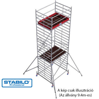 Krause 745262 Stabilo 50-es sorozat 9,40m-es gurulóállvány (2,50mx1,50m mezőhossz)  /293kg/