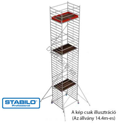 Krause 735317 Stabilo 50-es sorozat 14,40m-es gurulóállvány (2mx1,50m mezőhossz)  /371kg/