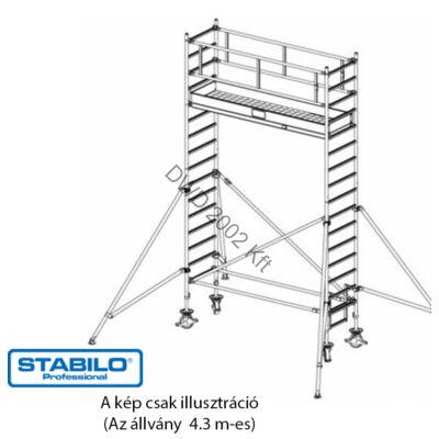 Krause 738042 Stabilo 1000-es sorozat 4,30m-es gurulóállvány (2mx0,75m mezőhossz)  /124kg/