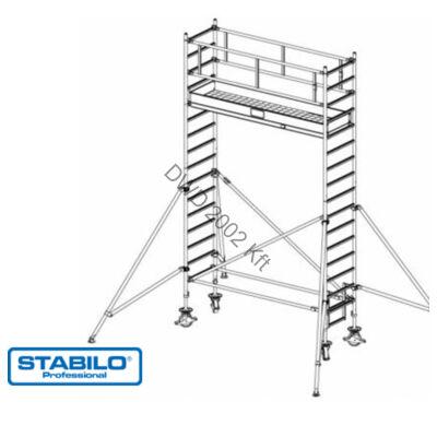 Krause 748058 Stabilo 1000-es sorozat 5,30m-es gurulóállvány (2,50mx0,75m mezőhossz)  /141kg/