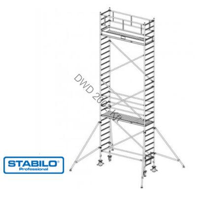 Krause 748089 Stabilo 1000-es sorozat 8,30m-es gurulóállvány (2,50mx0,75m mezőhossz)  /201kg/
