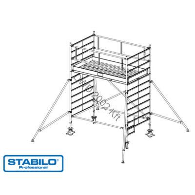 Krause 749048 Stabilo 5000-es sorozat 4,30m-es gurulóállvány (2,50mx1,50m mezőhossz)  /166kg/