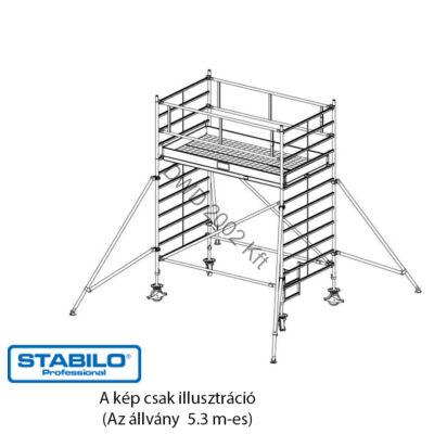 Krause 749055 Stabilo 5000-es sorozat 5,30m-es gurulóállvány (2,50mx1,50m mezőhossz)  /178kg/