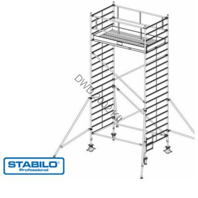 Krause 739063 Stabilo 5000-es sorozat 6,30m-es gurulóállvány (2mx1,50m mezőhossz)  /180kg/