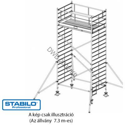 Krause 759078 Stabilo 5000-es sorozat 7,30m-es gurulóállvány (3mx1,50m mezőhossz)  /288kg/