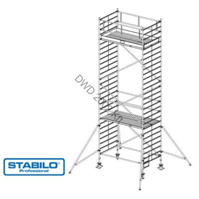 Krause 749086 Stabilo 5000-es sorozat 8,30m-es gurulóállvány (2,50mx1,50m mezőhossz)  /268kg/
