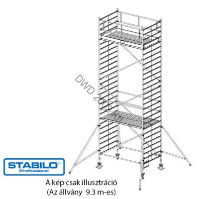 Krause 749093 Stabilo 5000-es sorozat 9,30m-es gurulóállvány (2,50mx1,50m mezőhossz)  /284kg/
