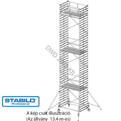Krause 745149 Stabilo 500-as sorozat 13,40m-es gurulóállvány (2,50mx1,50m mezőhossz)  /417kg/