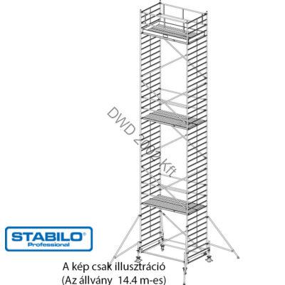 Krause 745156 Stabilo 500-as sorozat 14,40m-es gurulóállvány (2,50mx1,50m mezőhossz)  /435kg/