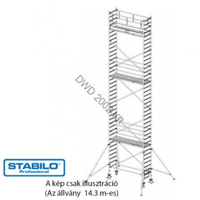 Krause 748140 Stabilo 1000-es sorozat 14,30m-es gurulóállvány (2,50mx0,75m mezőhossz)  /294kg/