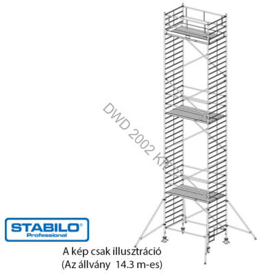 Krause Stabilo Gurulóállvány 5000-es sorozat 14,3m (2,5x1,5m) 749147