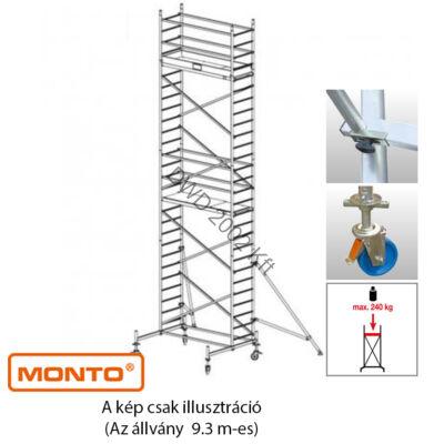 Krause 910172 Monto ProTec 9,30m alumínium gurulóállvány  /172kg;2,75m/