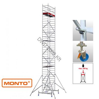 Krause 910196 Monto ProTec 11,30m alumínium gurulóállvány  /207kg;2,75m/