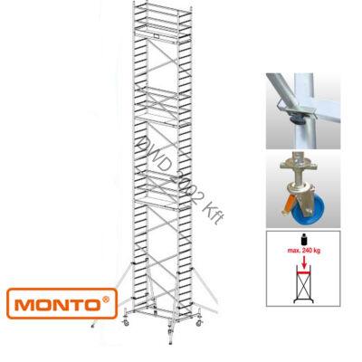 Krause 910165 Monto ProTec 12,30m alumínium gurulóállvány  /216kg;2,75m/