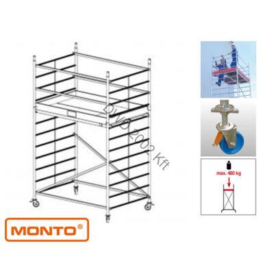 Krause 911094 Monto ProTec XXL 4,3m szélesített alumínium gurulóállvány  /87kg;2,40m/