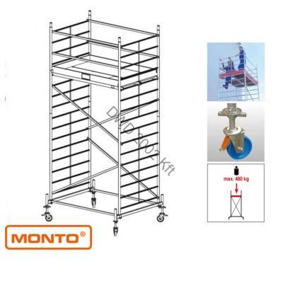 Krause 911131 Monto ProTec XXL 5,3m szélesített alumínium gurulóállvány  /119kg;2,40m/